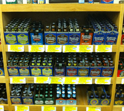 Sam Adams takes up 1/6th of the Beer Rack space at the Sugarhouse state liquor store in Utah. Nice rack for only 1% market share!